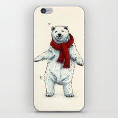 The polar bears wish you a Merry Christmas iPhone & iPod Skin
