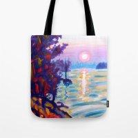 Gold Island Sunset  Tote Bag
