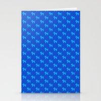 Dogs-Blue Stationery Cards