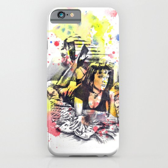Uma Thurman From Pulp Fiction iPhone & iPod Case