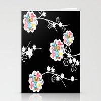 B&W Bloom Stationery Cards
