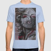 Marilyn Monroe XOXO Mens Fitted Tee Athletic Blue SMALL