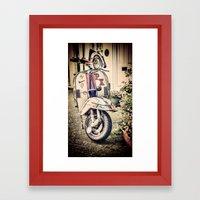 Vintage Moped Framed Art Print