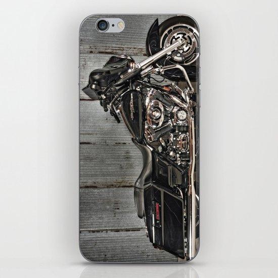 Black Harley Street Glide iPhone & iPod Skin
