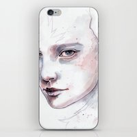 Frozen, quick watercolor portraiture iPhone & iPod Skin