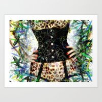 Corset Animal Print Art Print