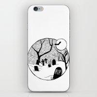 Halloween Graveyard iPhone & iPod Skin