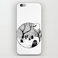 Halloween Graveyard iPhone & iPod Skin