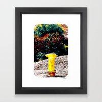 Yellow Fire Hydrant Comics Framed Art Print