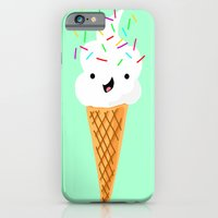 iPhone Cases featuring Happiness Is Sprinkles On Your Ice Cream by Designs By Misty Blue (Misty Lemons)