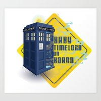 Doctor Who Tardis - Baby… Art Print