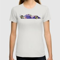 Senna Womens Fitted Tee Silver SMALL