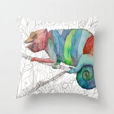 Chameleon Fail Throw Pillow