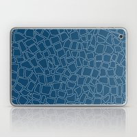 British Mosaic Blue Prin… Laptop & iPad Skin