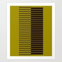 Quagga Zebra Plays Piano Art Print