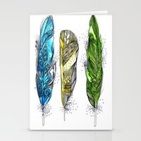 Dream Feathers Stationery Cards