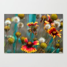 Fiery Flowers Canvas Print