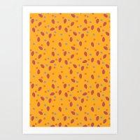Yellow Dotty Art Print