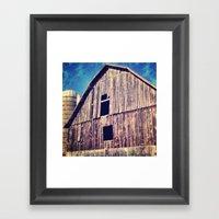 Weathered Barn Framed Art Print