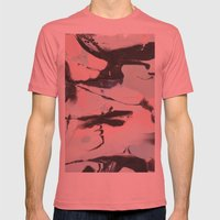 TWO  Mens Fitted Tee Pomegranate SMALL
