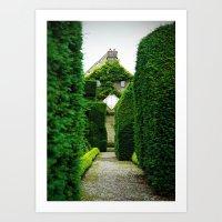 Levens Hall, Lake District, England Art Print