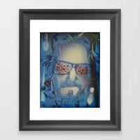 Blue Dude : The Big Lebowski  Framed Art Print