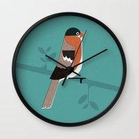 Raitán (Asturian Robin) Wall Clock