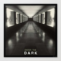 Enter the dark Canvas Print