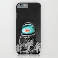 iPhone Cases featuring Underwater astronaut by Budi Kwan