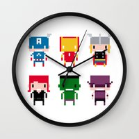 Pixel Avengers Wall Clock