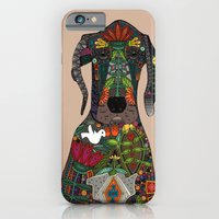 iPhone & iPod Case featuring Great Dane love beige by Sharon Turner