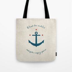 Sailor before Captain Tote Bag