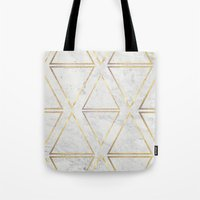 gOld rhombus Tote Bag