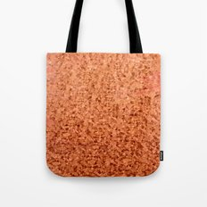 Coral Orange Abstract Low Polygon Background Tote Bag