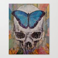 Butterfly Skull Canvas Print