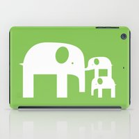 Green Elephants iPad Case