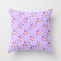 Butterflies Flowers Tiny… Throw Pillow