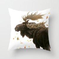Moose Reflection Throw Pillow