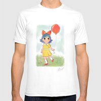 Balloon Makes A Day Mens Fitted Tee White SMALL