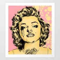 Mirror Monroe Art Print