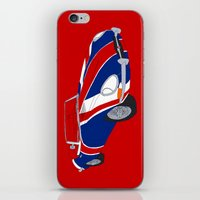 Shaguar (on Red) iPhone & iPod Skin