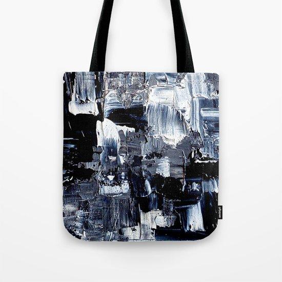 50 Shades... - black & white abstract painting Tote Bag