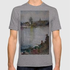 Fishing Mens Fitted Tee Athletic Grey SMALL