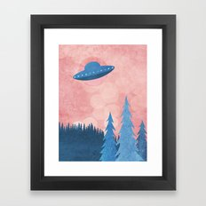 Unidentified Flying Object Framed Art Print