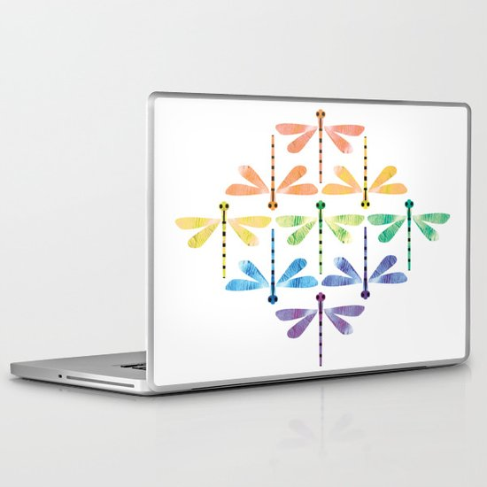 Rainbow Damselflies Laptop & iPad Skin