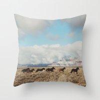 Running Reservation Hors… Throw Pillow