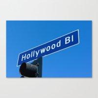 hollywood blvd sign Canvas Print