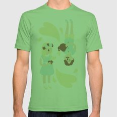 English Summer Cup Of Tea Mens Fitted Tee Grass SMALL
