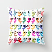 Bird is the Word! Throw Pillow