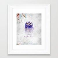 baby owl Framed Art Print
